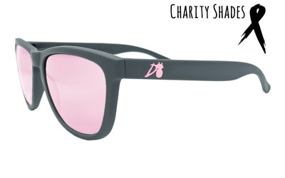 Essentials - Matte Gray - Pink Lens Polarized - Essentials - Breast Cancer Edition