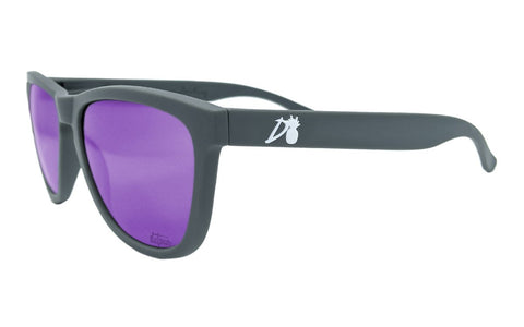 Essentials - Matte Gray - Purple Lens Polarized - Essentials