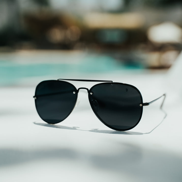 Jet Black Lens Polarized - Bimini