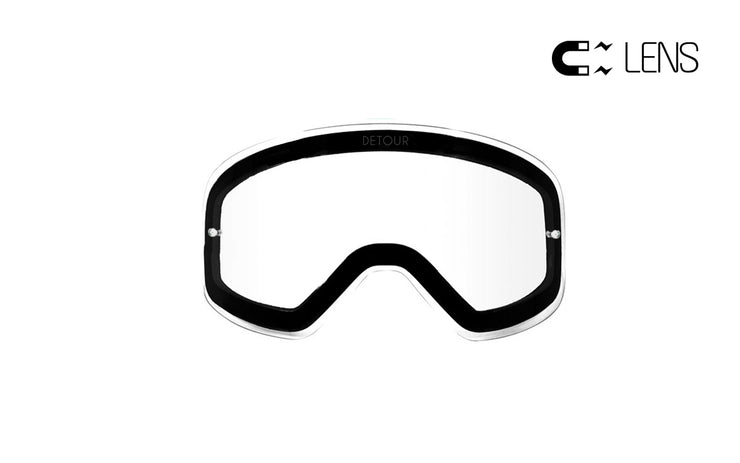 PowPow Moto - Crystal Clear - Spare QuickGrip Lens
