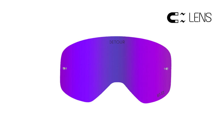 PowPow Moto - Electric Purple - HI-FI Spare QuickGrip Lens