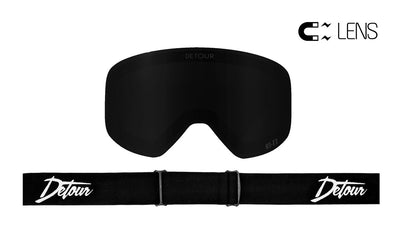 PowPow Detour Blackout lens for snow goggles