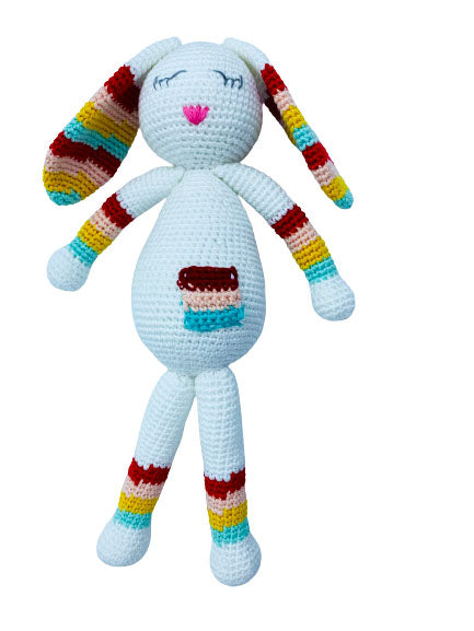 Shimmy the Clever Bunny Crochet Doll
