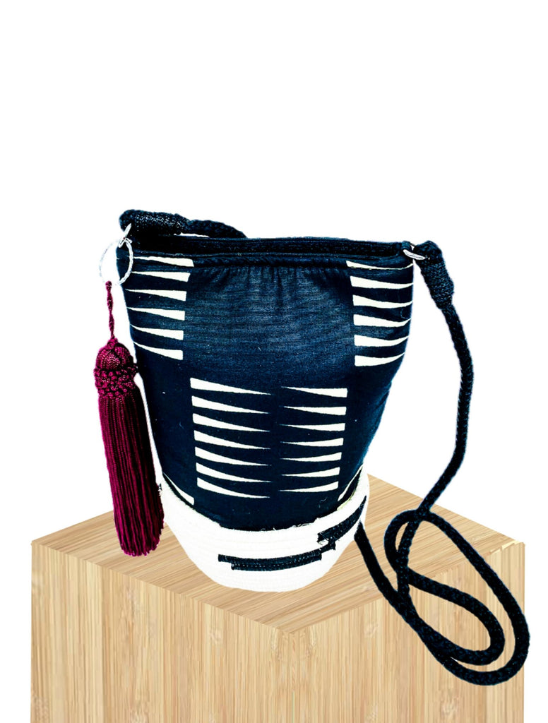 Mini Handwoven Basket Bucket Bag