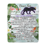 Be like a Black Panther Sherpa Fleece Blanket (Son from Mom)