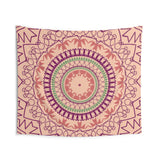 Orange and Purple Mandala Indoor Wall Tapestries