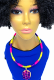 Handmade Colorful Statement Necklace