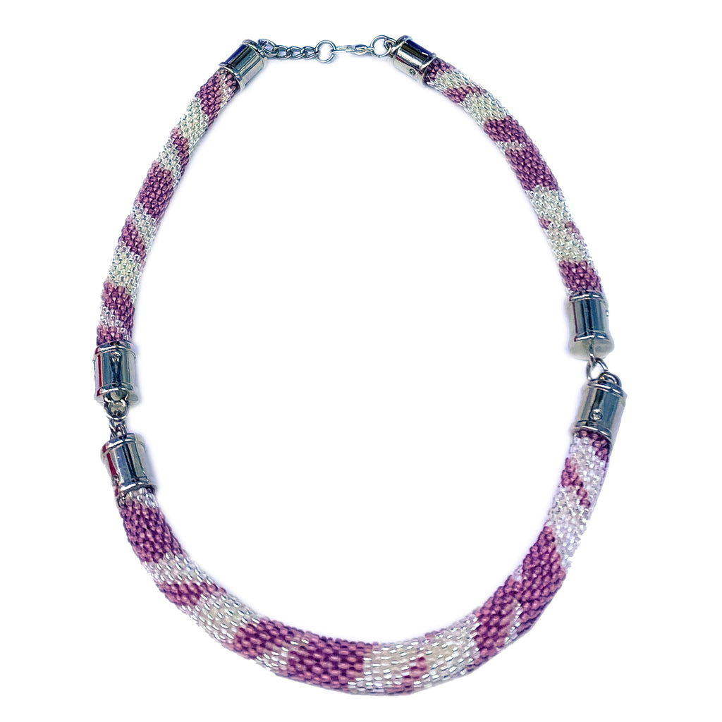 Handmade Seed Bead Crochet Necklace