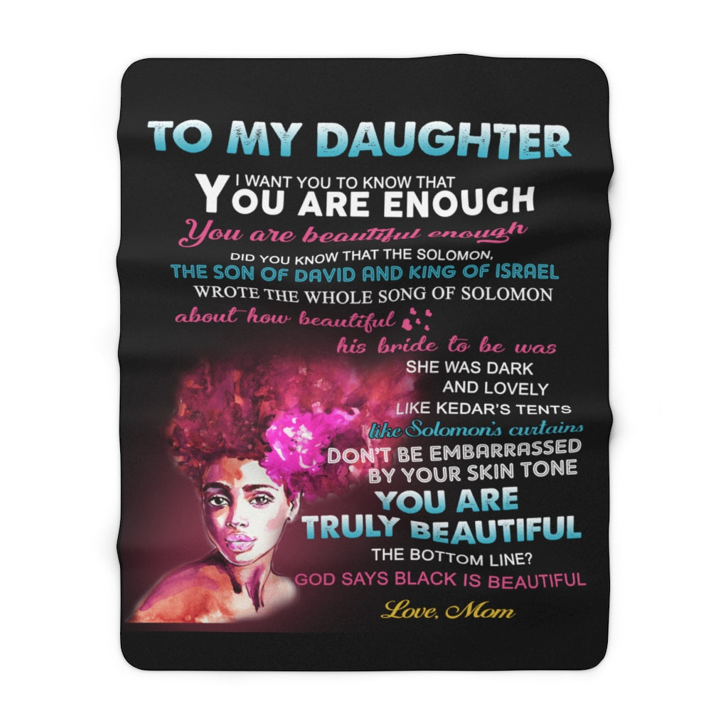 Wakanda Sherpa Fleece Blanket (Daughter from Mom)