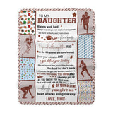 Daughter Football Sherpa Fleece Blanket (Daughter from Mom)