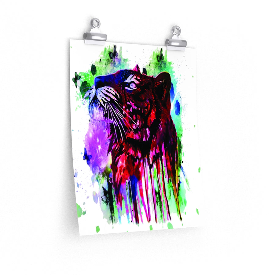 Tiger Watercolor Premium Matte vertical posters print