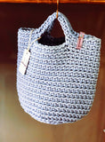 Tote Bag Scandinavian Style Crochet Tote Bag Handmade Bag Knitted Handbag TAUPE color
