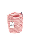 Tote Bag Scandinavian Style Crochet Tote Bag Size MINI Baby Pink
