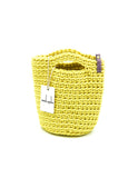 Tote Bag Scandinavian Style Crochet Tote Bag Size MINI Bright Yellow