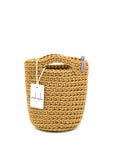 Tote Bag Scandinavian Style Crochet Tote Bag  Size MINI Caramelo