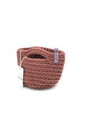 Clutch Bag Scandinavian Style Crochet Dusty Rose