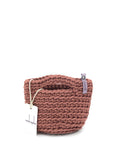 Clutch Bag Scandinavian Style Crochet Dark Dusty Rose