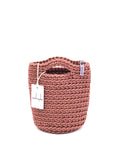 Tote Bag Scandinavian Style Crochet Tote Bag Size MINI Dusty Rose
