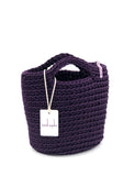 Scandinavian Style Handmade Crochet Tote Bag with Short Handles