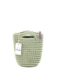 Tote Bag Scandinavian Style  Frozen Sage Crochet Tote Bag Size MINI