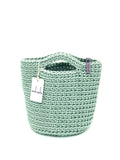Scandinavian Style Handmade Tote Bag with Short Hands Mint