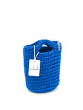 Tote Bag Scandinavian Style Ocean Blue Crochet Size MINI