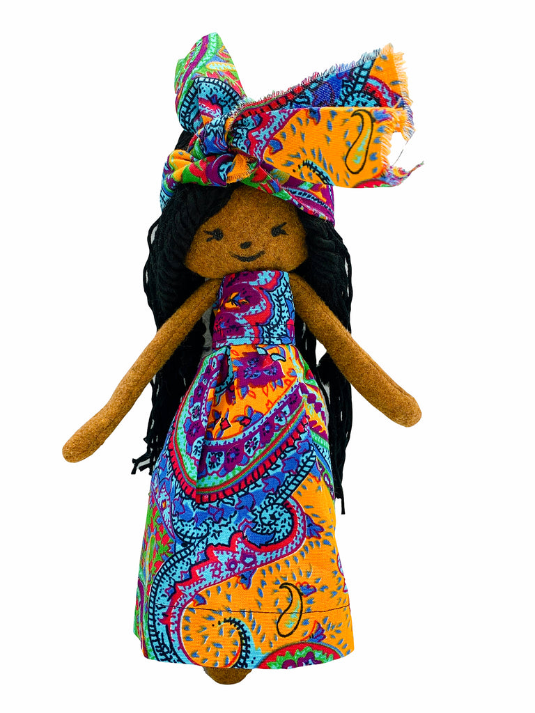 Zena Diversity Cloth Rag Doll-Short Dress