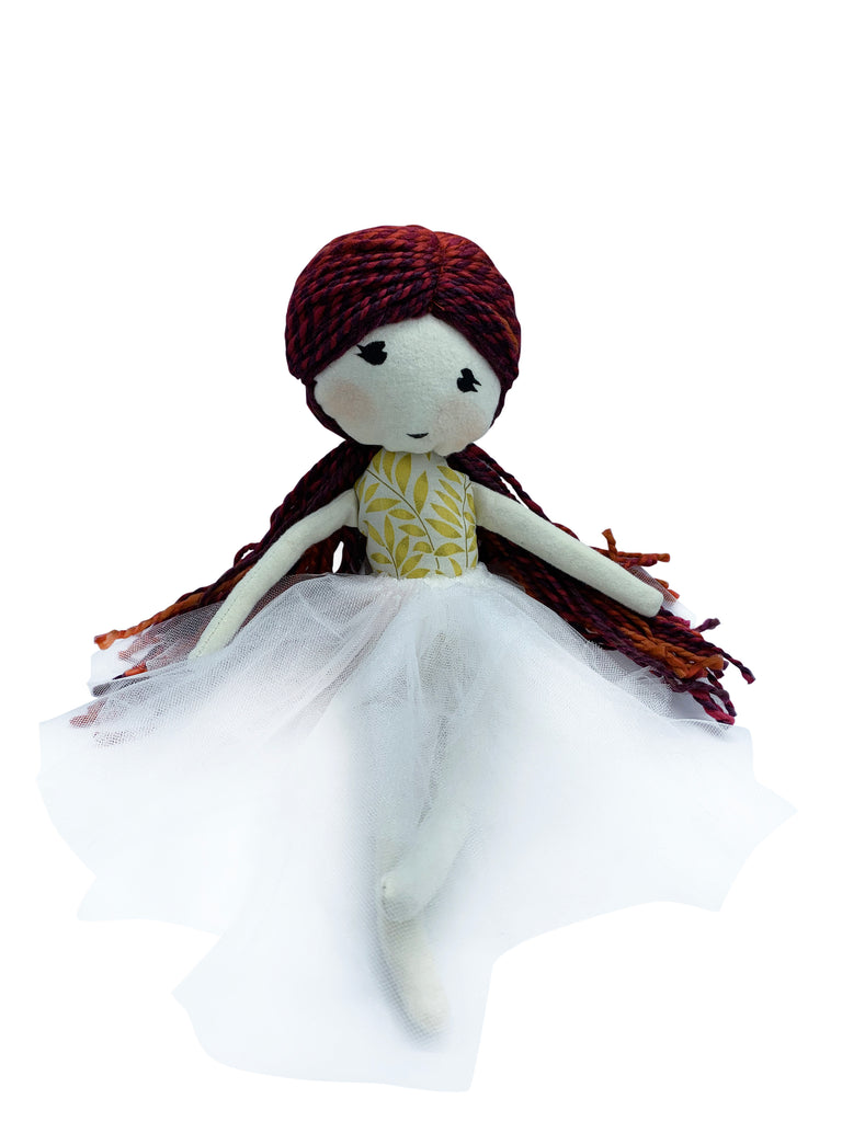 Anna with hair Cloth Rag Doll