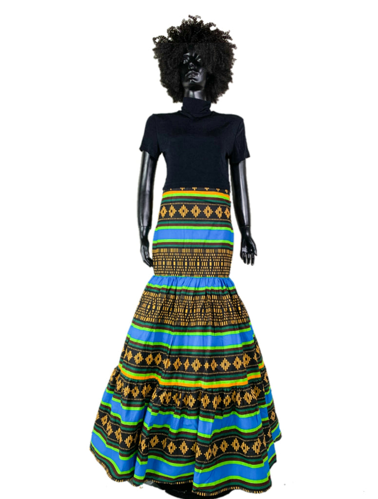 Laugh Wax African skirt Long skirt