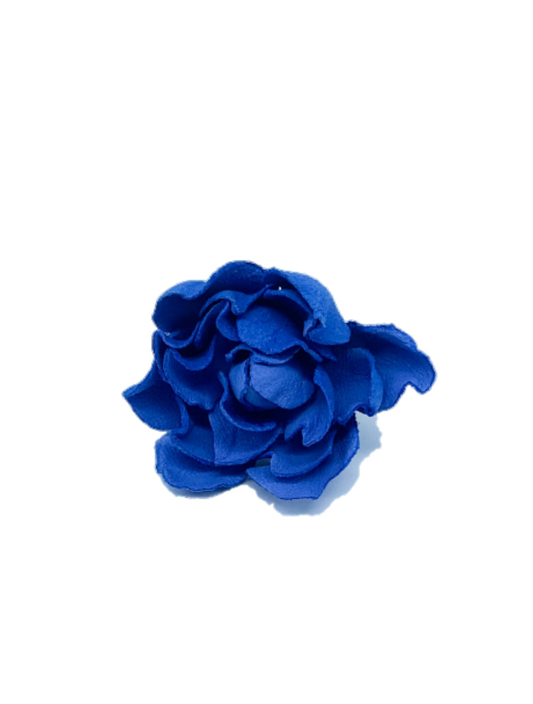 2 in 1 Leather flower brooch and hair pin combination