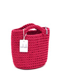 Scandinavian Style Handmade Crochet Tote Bag Raspberry Kiss