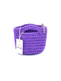 Clutch Bag Scandinavian Style Crochet Royal Purpleurse Handbag Gift for Her