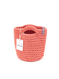 Tote Bag Scandinavian Style Salmon Crochet Size MINI
