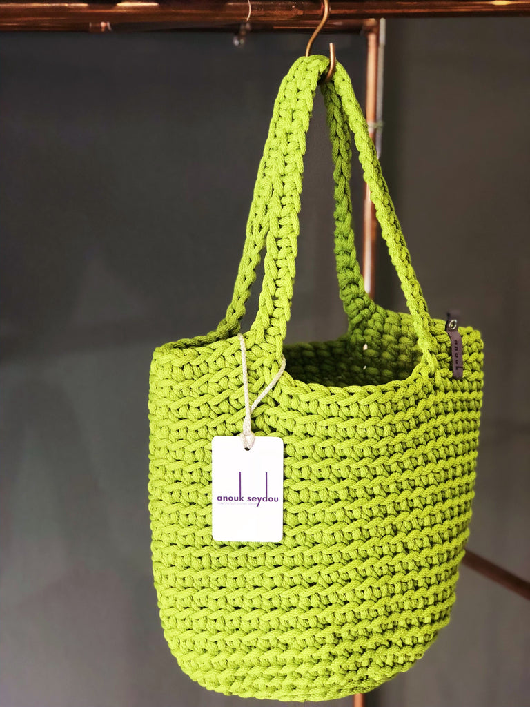Scandinavian Style Long Handle Tote Bag Handmade