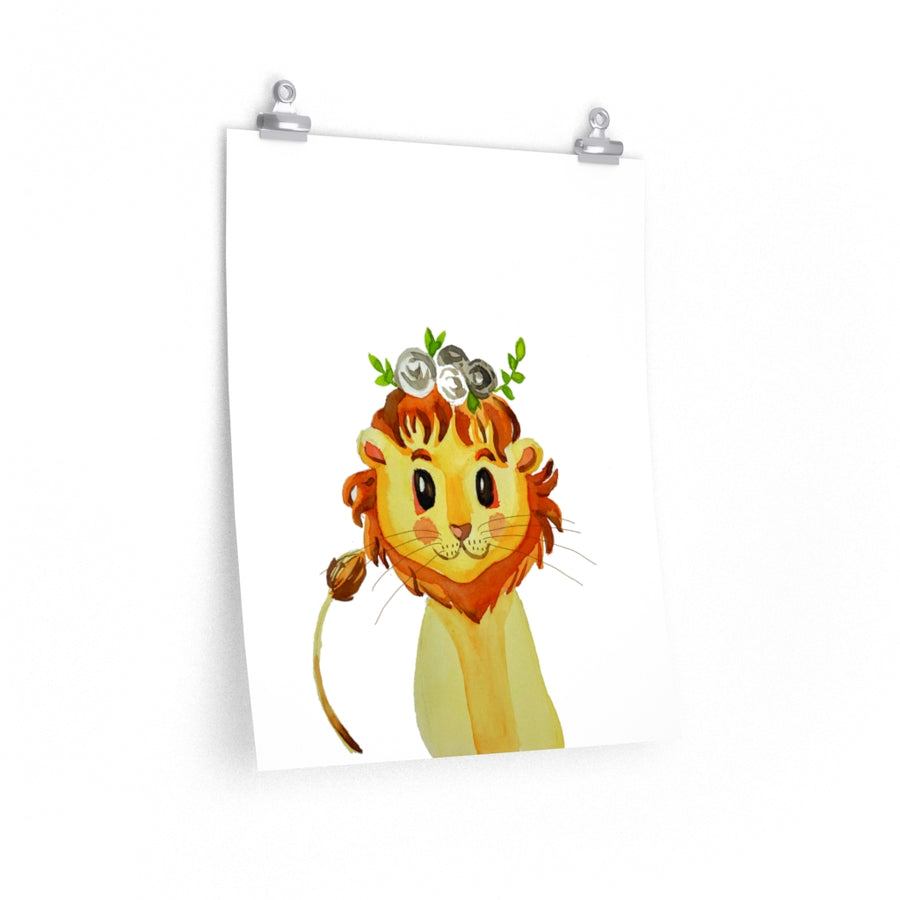 Baby room Lion Premium Matte vertical posters print