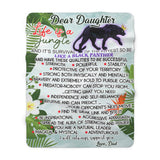 Be like a Black Panther Sherpa Fleece Blanket (Daughter from Dad)