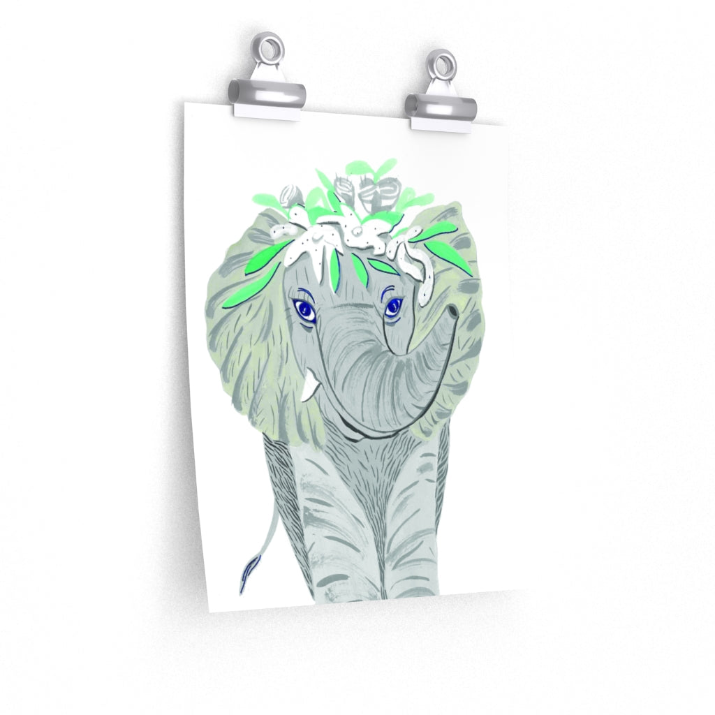 Elephant Baby Room Premium Matte vertical posters print