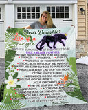 Be like a Black Panther Sherpa Fleece Blanket (Daughter from Mom)