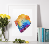 Lion Watercolor Premium Matte vertical posters print