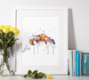 Turtle Watercolor Premium Matte vertical posters print