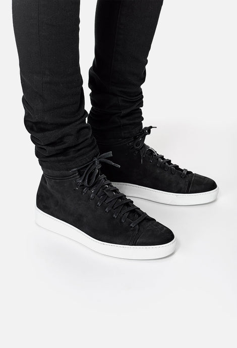Leather High Top Sneakers in White John Elliott + Co Inexpensive Cheap Price For Nice Cheap Price Exclusive Enjoy Shopping nZDtqc1TNE