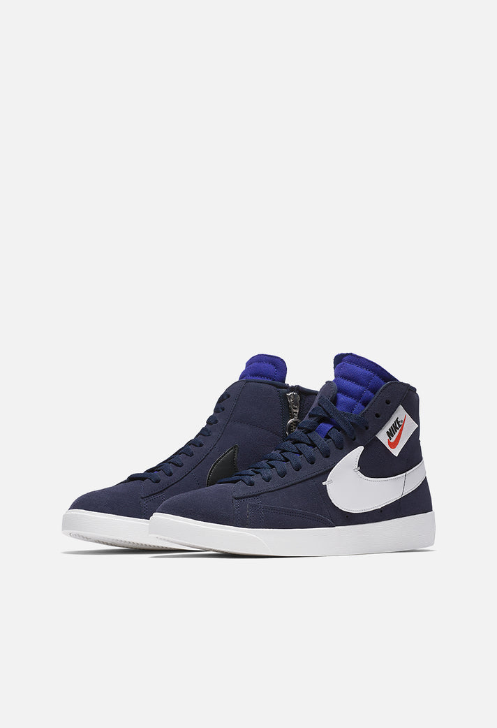 new product d8761 b4348 ... free shipping wmns nike blazer mid rebel blackened blue 1eaf6 0a079