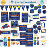 Nerf Dart Grunge Printable Party Decorations Package - Edit in Corjl yourself!