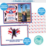 Ninja Warrior Invitation Boy Blue and Red editable Photo Picture Invitation Invite Zazzle Store