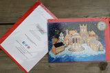 A5 Glossy Christmas Card with Red envelope Gingerbread Tickhill