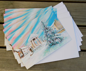 "Multi Pack Of 5 A5 Greeting Cards with White Envelope ""I'm Dreaming of a white Tickhill Christmas"" 2020"