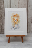 Lion (number One) watercolour