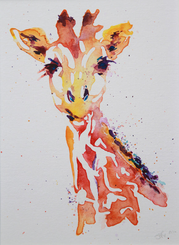 Giraffe (number One) watercolour