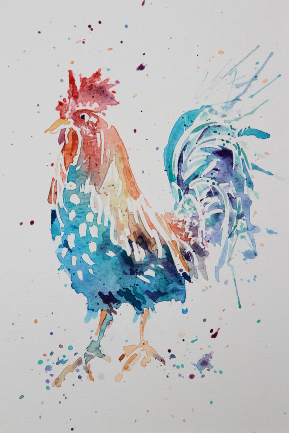 COCKRELL watercolour #1