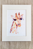 GIRAFFE watercolour (#4)